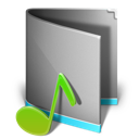 Folder, Itunes, Music icon