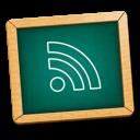 subscribe, learn, education, school, feed, green, blackboard, teaching, rss, teach icon