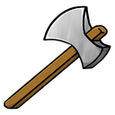 iron, axe icon