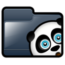 folder,panda icon