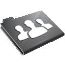 folder, users, grey icon