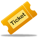 tix, ticket, movie icon
