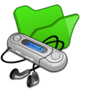 folder,green,mymusic icon