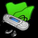 folder,green,mymusic icon