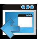 left, application, arrow, window icon