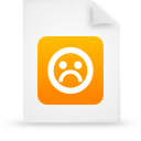 orange, document, paper, file icon