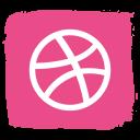 social, dribble icon