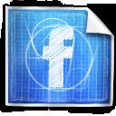 blueprint, blue print, facebook, social icon