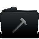 Black, Developers, Folder icon