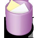 recycle bin, trash, purple, full icon