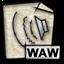 mime, gnome, audio, waw icon