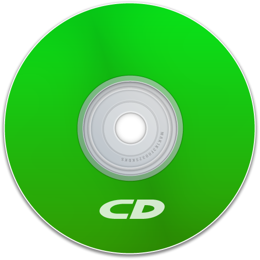 save, green, cd, disc, disk, dvd icon