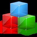 modules, color, blocks, rgb, square icon