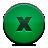 close, button, green icon