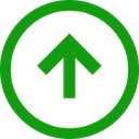 up, trend, arrow, direction, positive icon