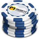 Blue, Casino, Chips icon