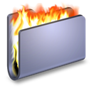 Blue, Burn, Folder icon