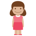 girl, female, person, kid, pink, avatar, child icon
