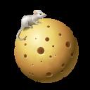 moon, globe, cheese, earth, planet icon
