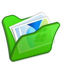 folder, mypictures, green icon