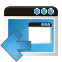 application arrow left icon
