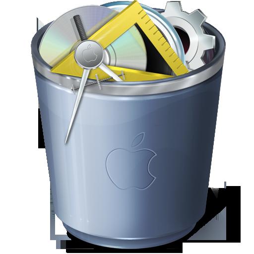 full, trash, recycle bin icon