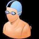 male, swimmer icon