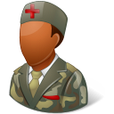 dark, armynurse, male icon