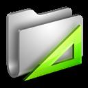 Applications, Folder, Metal icon
