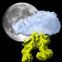 moon, storm icon