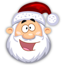 happy, santa claus, emot, fun, emotion, funny, smile icon