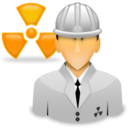 worker, nuclear, spectrometry, engineer, radiation icon