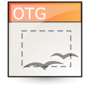 template, opendocument graphics icon