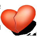 valentine, heart, broken, love icon
