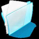 papier, dossier, blue icon
