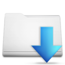 white,folder,downloads icon
