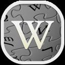 Flat, Round, Wikipedia icon