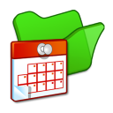 folder green scheduled tasks icon