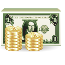 03, dollar, bank, money, coints icon