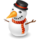 snowman, winter, christmas icon