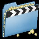 blue, video, film, alt, movie icon