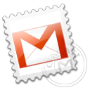 grey,gmail,stamp icon