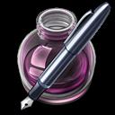 Pink w original pen icon