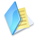 file, paper, folder, document, blue icon