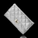 Chanel, Purse, Silver icon