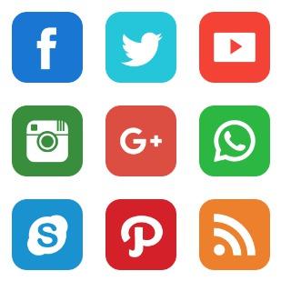Social var 1 icon sets preview