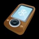 microsoft,zune,brown icon