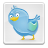 button, file, paper, twitter, badge, social, document, sn, social network, blue, animal, bird, boxed icon