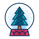 tree, snowglobe, christmas, decorate, decoration icon