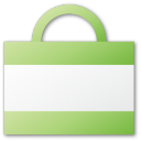 bag, shopping, shopping cart, cart, commerce, green, buy icon